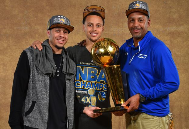 Dell Curry - Stephen Curry - Seth Curry kupa