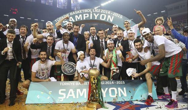 2014-2015 Basketbol Süper Ligi şampiyonu Pınar Karşıyaka