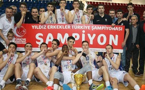 2015 Yıldız Erkekler Türkiye Şampiyonu Anadolu Efes