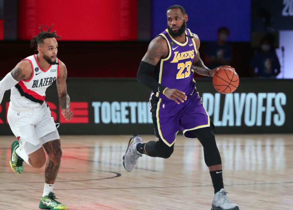 NBA Play-Offs - LeBron James - Los Angeles Lakers