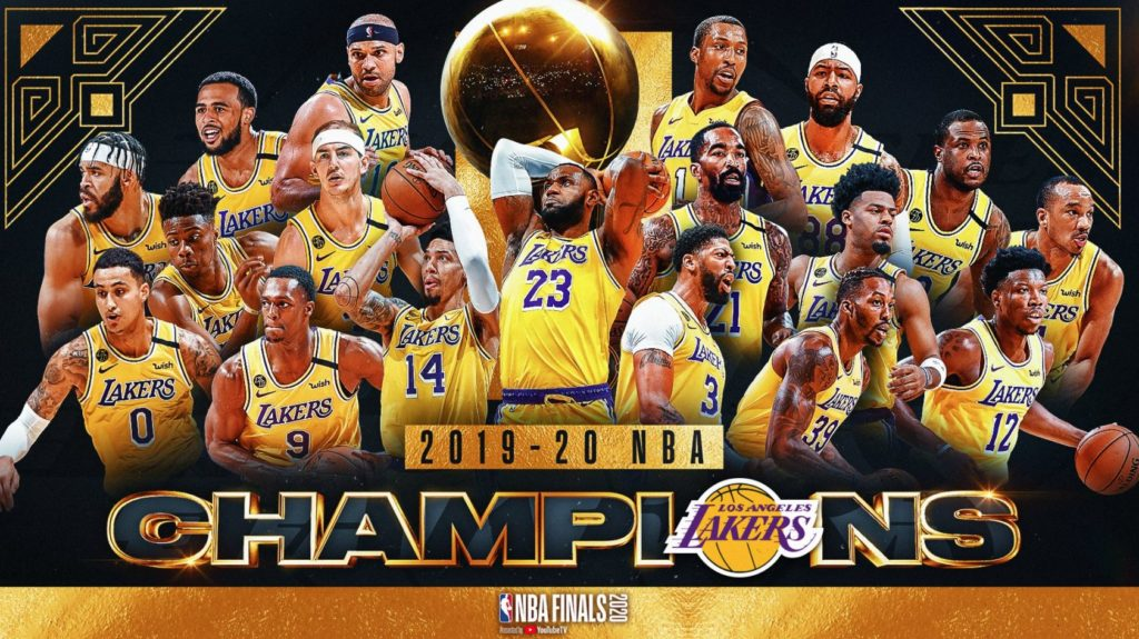 2020 NBA şampiyonu Los Angeles Lakers