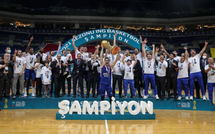 ING Basketbol Süper Ligi 2020-2021 şampiyonu Anadolu Efes