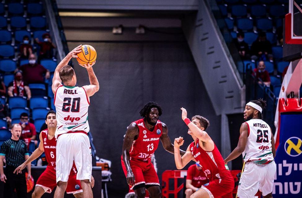Basketball Champions League 2021-2022 Hapoel Jerusalem - Pınar Karşıyaka - Michael Roll